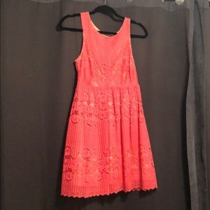 Free People eyelet lace dress in pink